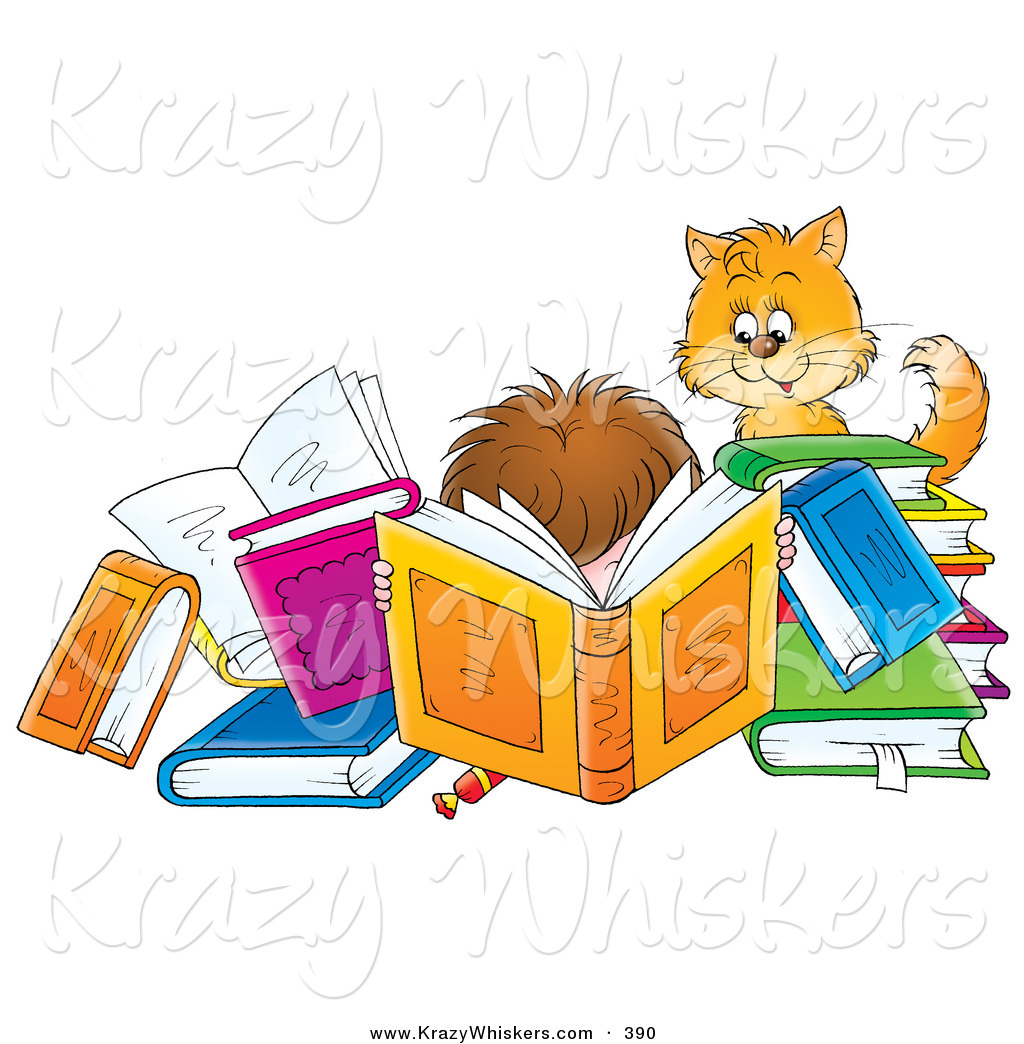 free clip art animals reading books - photo #9