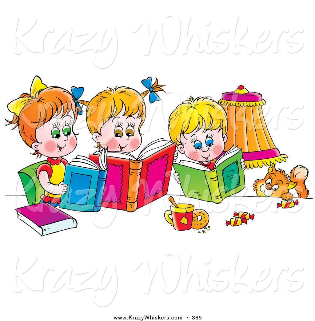 free clip art animals reading books - photo #33
