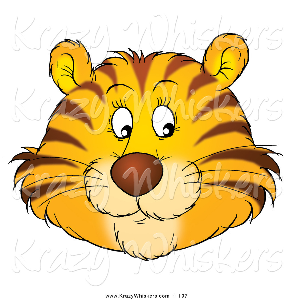 critter clipart of a friendly orange tiger face with free tiger face clipart cute tiger face clipart