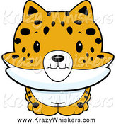 Critter Clipart of a Baby Bobcat Smiling by Cory Thoman