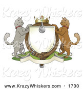 Critter Clipart of a Cat Coat of Arms by AtStockIllustration