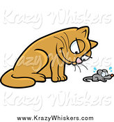 Critter Clipart of a Cat Glaring down at a Mouse by Cory Thoman