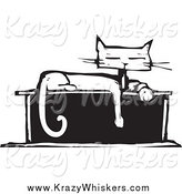 Critter Clipart of a Cat Sitting on a Box by Xunantunich