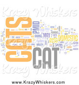 Critter Clipart of a Cats Word Collage by MacX