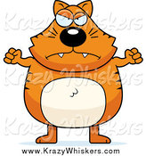 Critter Clipart of a Chubby Orange Cat Waving His Fists by Cory Thoman