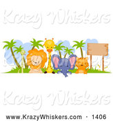 Critter Clipart of a Cute Animal Border by BNP Design Studio