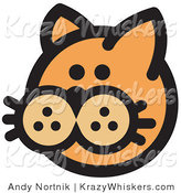 Critter Clipart of a Cute Orange Cat's Face on White by Andy Nortnik