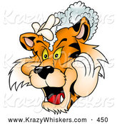 September 4th, 2013: Critter Clipart of a Friendly Tiger Washing His Mane with Shampoo by Dero