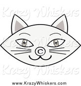 Critter Clipart of a Gray Cat Face with a Copyright Nose by Melisende Vector