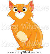 Critter Clipart of a Handsome Sitting Orange Cat by Yayayoyo