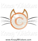 May 23rd, 2014: Critter Clipart of a Shiny Copyright Symbol Cat Face by Melisende Vector