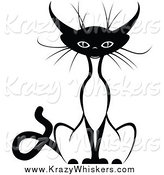 Critter Clipart of a Sitting Siamese Cat by Vector Tradition SM