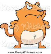 Critter Clipart of a Stern Orange Cat with His Hands on His Hips by Cory Thoman