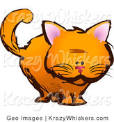 Critter Clipart of an Orange Kitten Looking Forward by AtStockIllustration