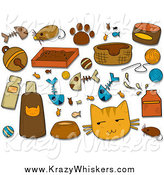 Critter Clipart of Feline Icons and Items by BNP Design Studio