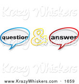 Critter Clipart of Question and Answer Chat Balloons by Andrei Marincas
