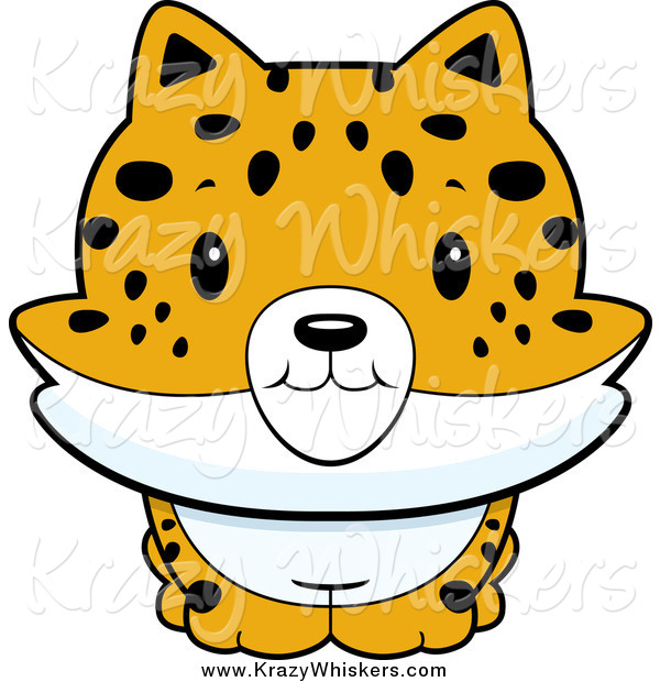 Critter Clipart of a Baby Bobcat Smiling