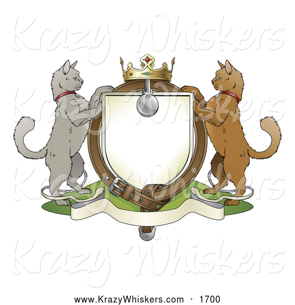 Critter Clipart of a Cat Coat of Arms