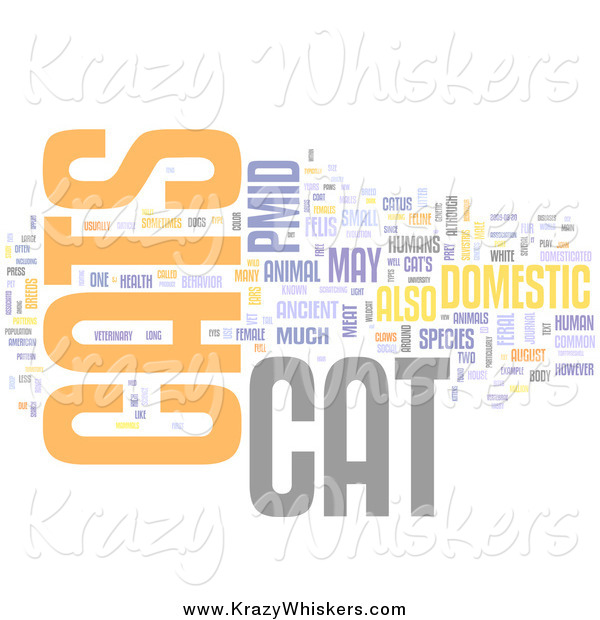Critter Clipart of a Cats Word Collage