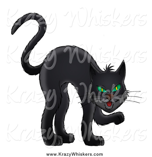 Critter Clipart of a Sneaky Black Cat
