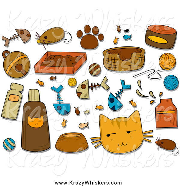 Critter Clipart of Feline Icons and Items