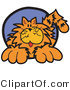 Critter Clipart of a Cute Fluffy Orange Kitty by Andy Nortnik