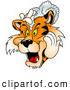 Critter Clipart of a Friendly Tiger Washing His Mane with Shampoo by Dero