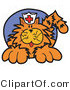 Critter Clipart of a Ginger Cat Wearing a White Nursing Hat with a Red Cross on It by Andy Nortnik