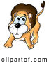 Critter Clipart of a Scared or Nervous Little Lion on White by Dero